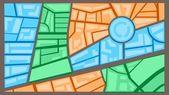 Ciudad mapa — Vector de stock