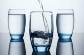 Three Water Glasses — Stock Photo