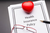 Health Insurance Policy — Stock Photo