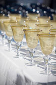 Wine goblets — Stock Photo