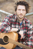 Man and guitar — Stock Photo