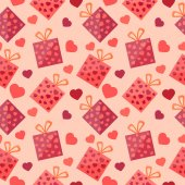 Heart Background Texture — Vettoriale Stock