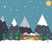 Winter holiday, illustration — Vector de stock