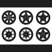 Wheels. Rims vector collection. — Stock Vector