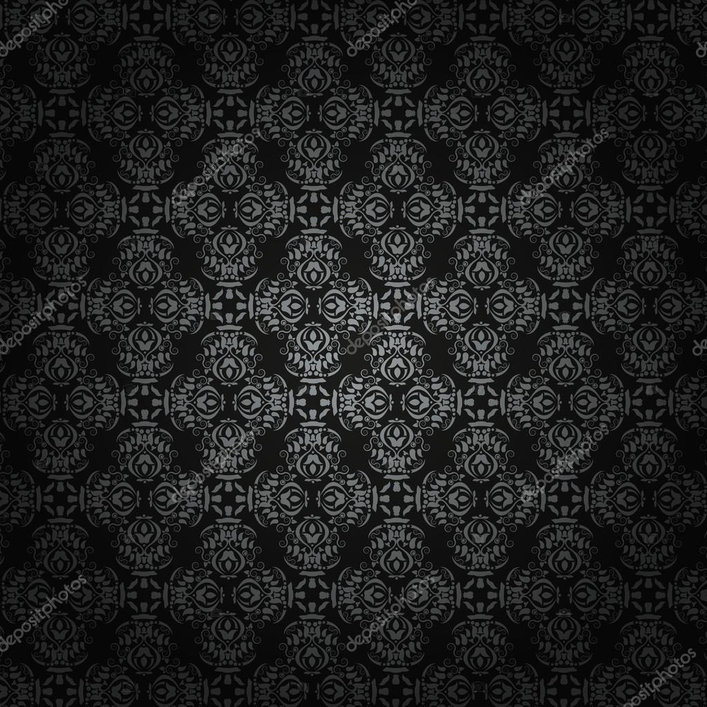 Baroque Black Vector Background
