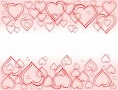 Background with hearts with white center — Stok fotoğraf
