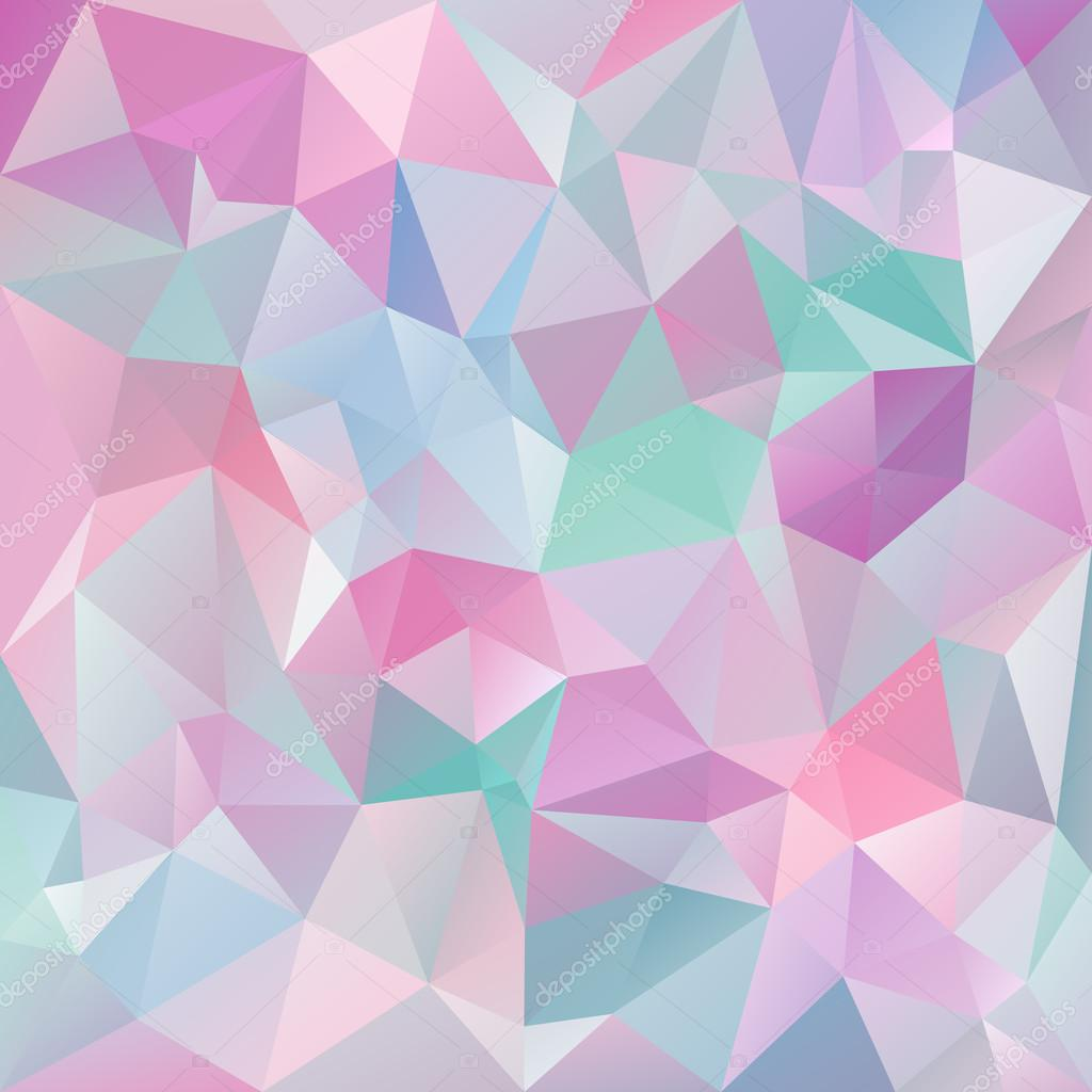Purple Polygonal Abstract Background: Vector Abstract Irregular Polygon Background With A