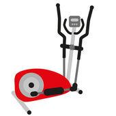Red ellptical cross trainer — Stock Vector