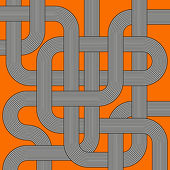 Vector labyrinth black and white striped tubes — 图库矢量图片