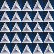 Vector space dark blue background with regular white glass triangles — Stock Vector #56645893