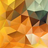 Vector polygonal background - orange autumn — Stock Vector