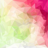 Vector polygonal background pattern - triangular design in pastel spring colors - green, pink, yellow — Stock Vector