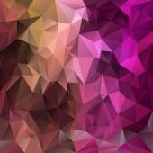 Vector polygonal background pattern - triangular design in expressive  colors - pink, magenta, brown, purple — Stock Vector