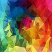Vector polygonal background - triangular design in rainbow spectrum colors - full color — Stock Vector