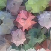 Vector polygonal background pattern - triangular design in pastel spring flower colors - pink, green, violet, blue — Stock Vector