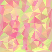 Vector polygonal background pattern - triangular design in pastel spring colors - pink, yellow, green, orange — ストックベクタ