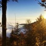 Sunrays over Medvednica mountain — Stock Photo #69472779