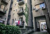 Typical Zagreb building backyard — Stock Photo
