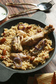 Ahmedi Biryani - An Indian dish containing meat, fish, or vegetatables — Stock Photo