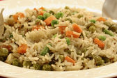 Vegetable Biryani - A popular Indian veg dish made with vegetables. — Stock Photo