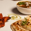 Paratha with paneer masala and chicken kebab. — Zdjęcie stockowe #53517463
