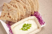 Tandoori Roti is an Indian unleavened bread — Stock Photo