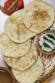Urad dal puri indian flatbread. — Stock Photo