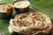 Kerala Paratha - a layered flatbread from Kerala — Stock Photo