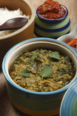 Hariyali daal is a rich dal, containing masoor dal and greens. — Stock Photo