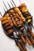 Barbecue Kebab Platter from India — Stock Photo