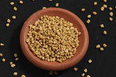 Fenugreek is used both as an herb(leaves) and as a spice(seeds). — Stock Photo