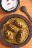 Machh mutton kofta is a kashmiri dish made of deep fried mutton  — Stock Photo