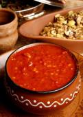 Lahsun ki Chutney is popular eatables in Rajasthan especially in winter season — Stock Photo