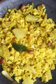 Poha - A snack made of beaten rice — Foto Stock