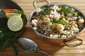 Sabudana Khichdi - Sauted sabudana, a dish commonly eaten  on days of religious fasting — Stock Photo