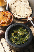 Saag Bhaji - A vegetarian dish from North Eastern Part of India. — Stock Photo
