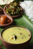 Moru curry or kalan - a traditional kerala dish — Stock Photo
