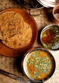 Gatte Ki Sabzi - a popular Rajasthani dish — Stock Photo