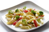 Pasta is a generic  term for italian variants of noodles — Stockfoto