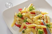 Pasta is a generic term for italian variants of noodles — Stock Photo