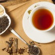 Spiced Masala Tea with Ingredients — Stock Photo #70574049