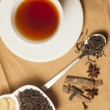 Spiced Masala Tea with Ingredients — Stock Photo #70574055