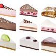 Set of sliced desserts — Stock Photo #51895589