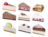 Set of sliced desserts — Stock Photo