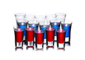Russian flag cocktail concept — Stock Photo