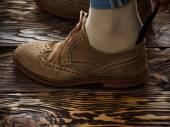 Suede brogue shoe — Stock fotografie