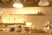 Абстрактные размыто Ресторан счетчика фон — Стоковое фото