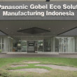 Close up on PT. Panasonic Gobel Eco Solutions Manufacturing Indonesia sign in plant during working hour — Stock Photo #68464617
