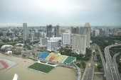 Singapore cityscape with bay view from distance — Foto de Stock
