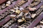 Typographie métal — Photo